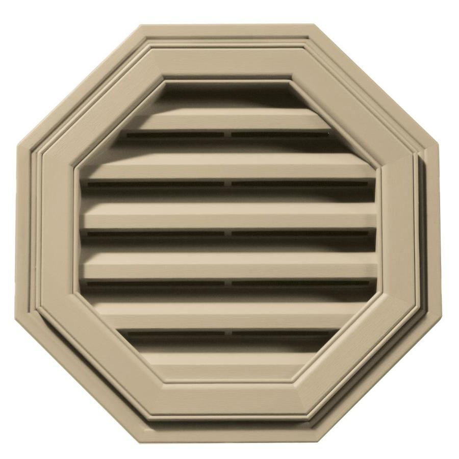 Builders Edge 6-in x 5-in Light Almond Octagon Vinyl Gable Vent