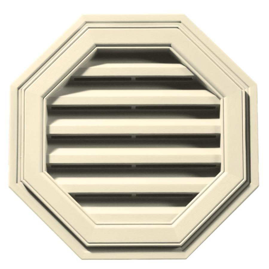 Builders Edge 18-in x 18-in Heritage Cream Octagon Vinyl Gable Vent