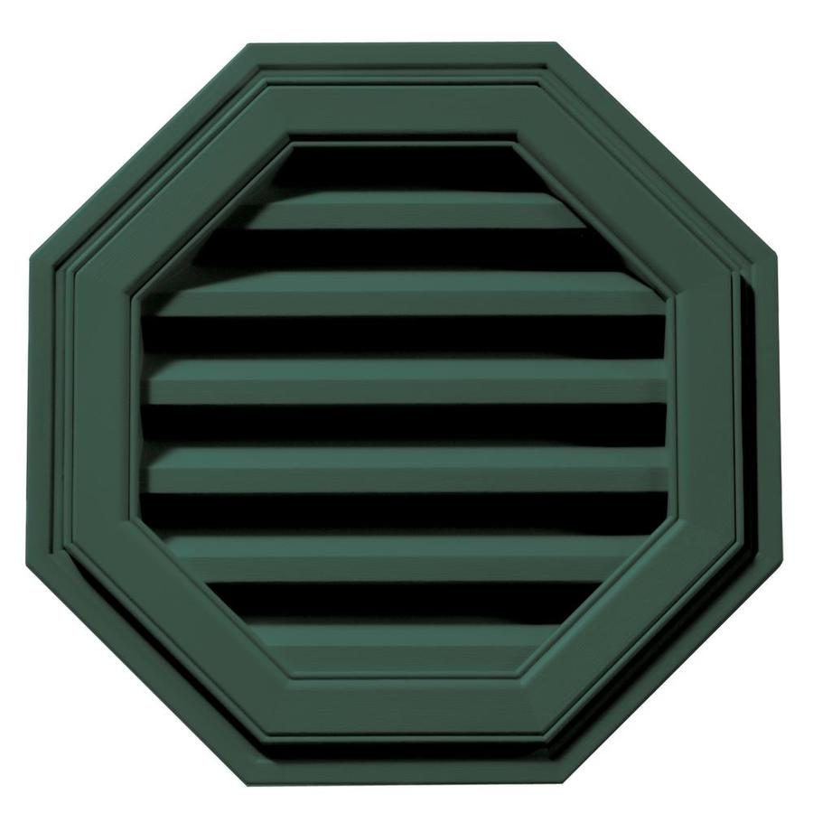 Builders Edge 18-in x 18-in Forest Green Octagon Vinyl Gable Vent