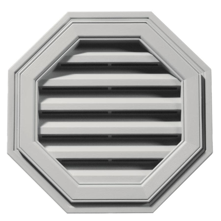 Builders Edge 18-in x 18-in Paintable Octagon Vinyl Gable Vent