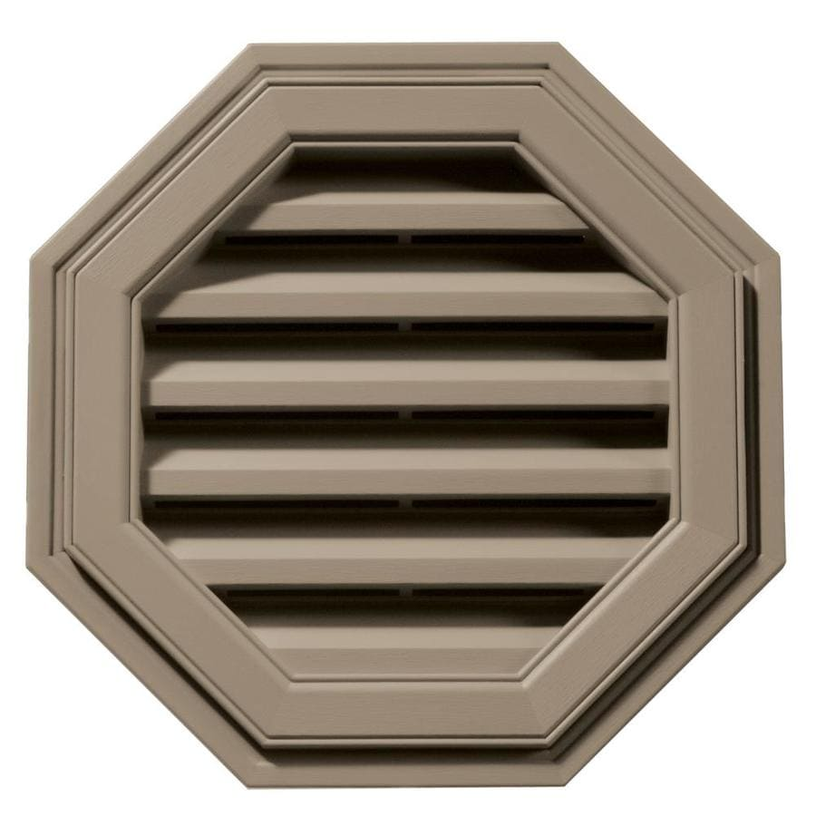 Builders Edge 6-in x 5-in Clay Octagon Vinyl Gable Vent