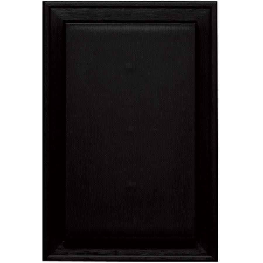 Builders Edge 8-in x 12-in Black Vinyl Universal Mounting Block