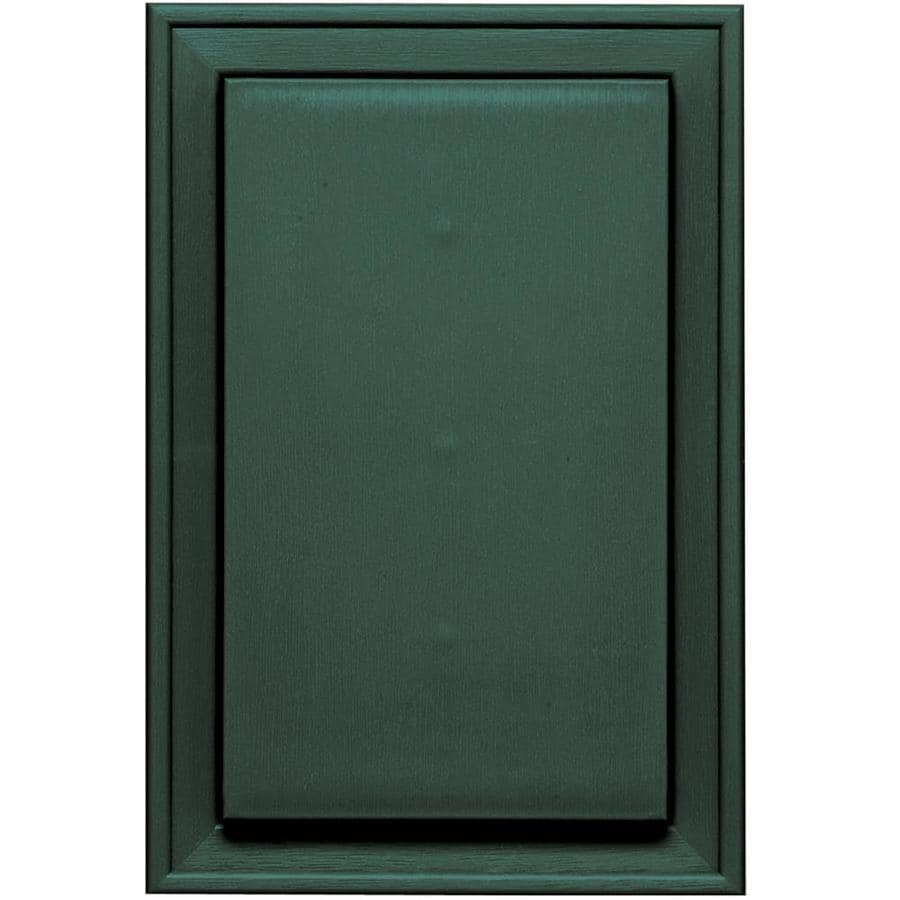 Builders Edge 8-in x 12-in Forest Green Vinyl Universal Mounting Block