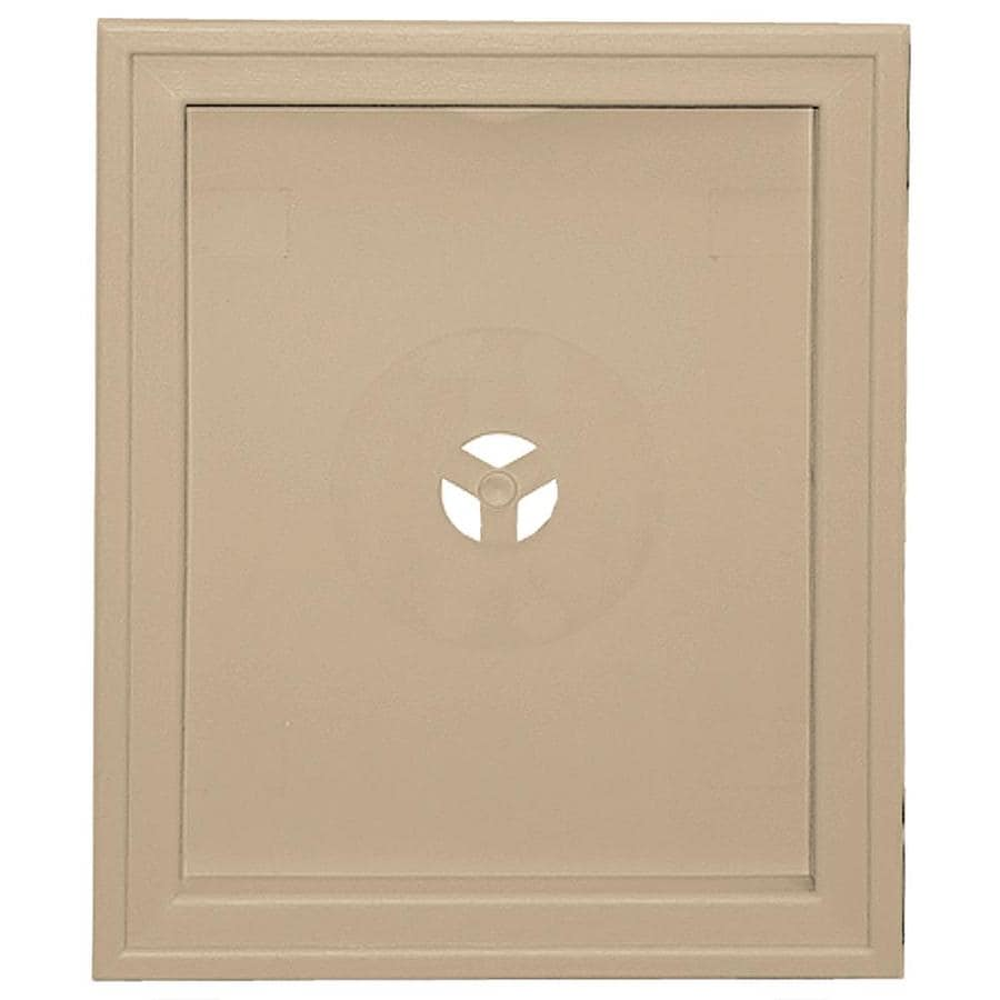 Builders Edge 6.75-in x 8.75-in Tan Vinyl Universal Mounting Block