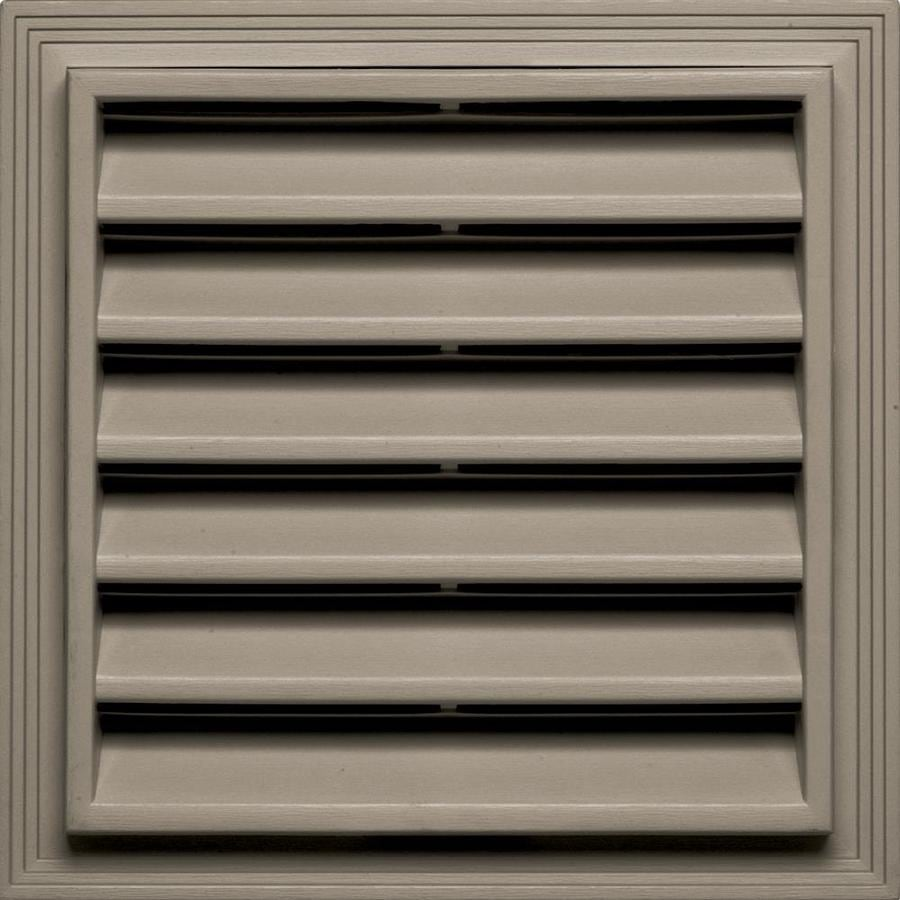 Builders Edge 14.2-in x 14.2-in Clay Square Vinyl Gable Vent