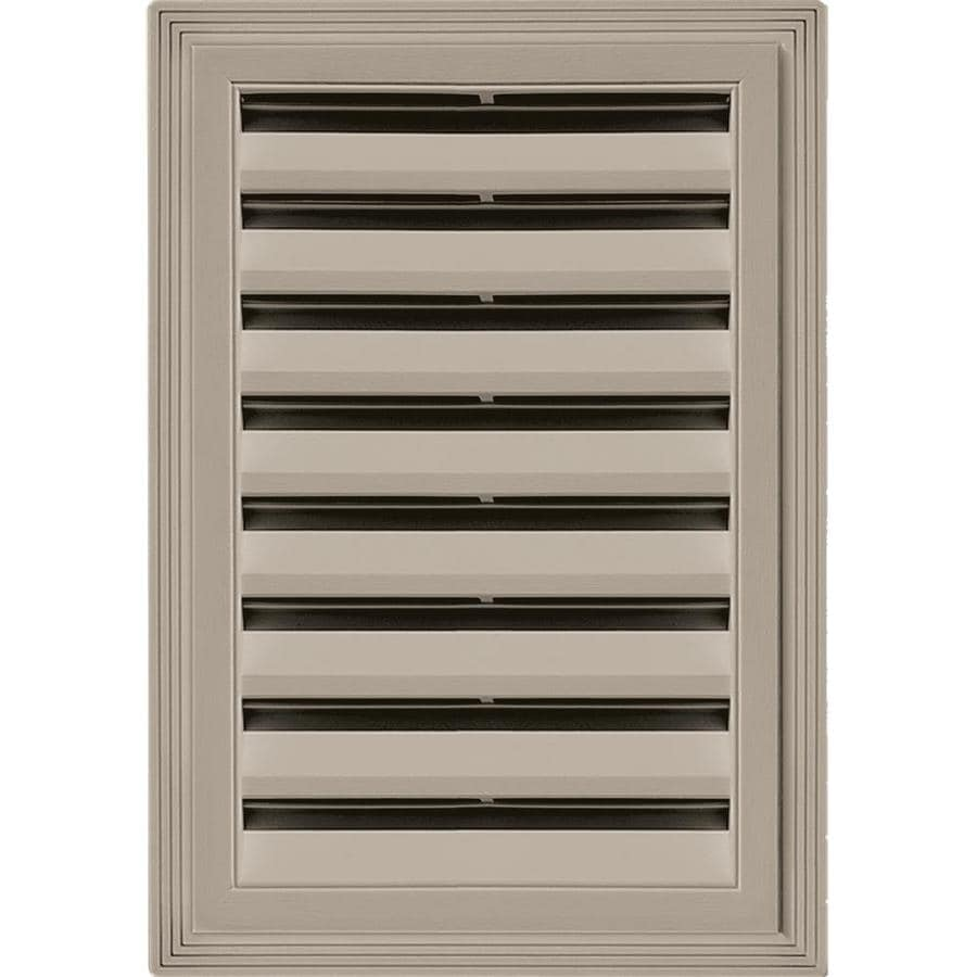 Builders Edge 6-in x 6-in Clay Rectangle Vinyl Gable Vent