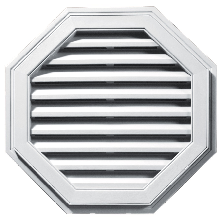 Builders Edge 27-in x 27-in White Octagon Vinyl Gable Vent
