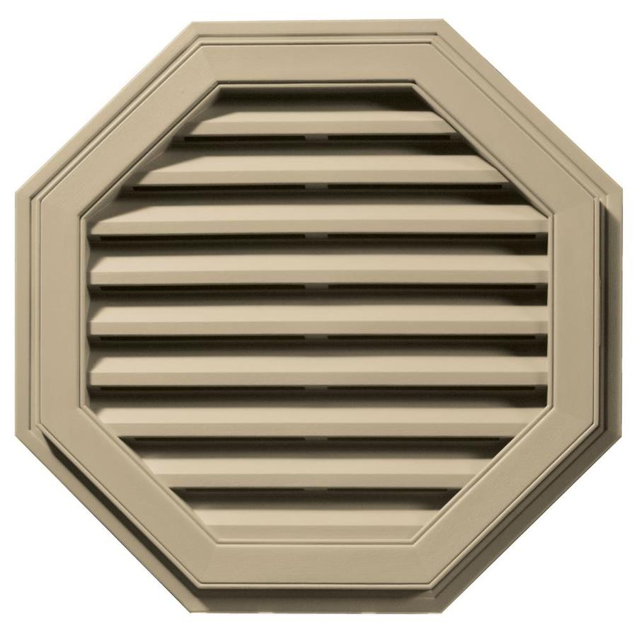 Builders Edge 9-in x 9-in Light Almond Octagon Vinyl Gable Vent
