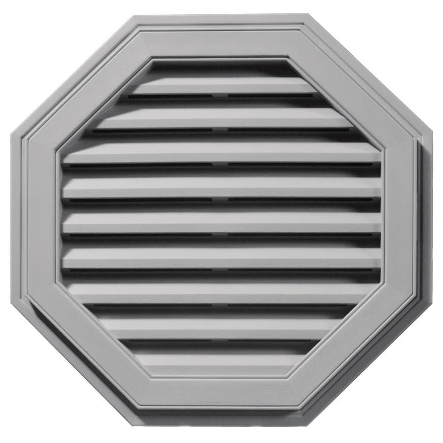 Builders Edge 27-in x 27-in Gray Octagon Vinyl Gable Vent