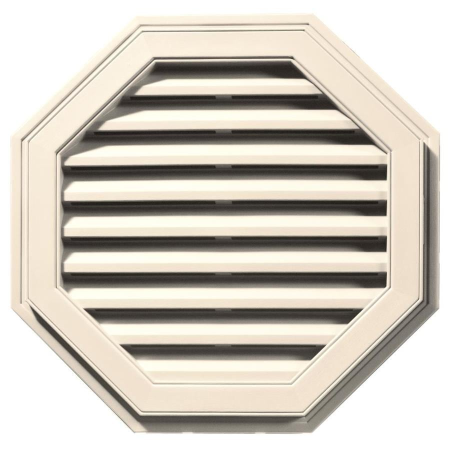 Builders Edge 27-in x 27-in Sandstone Beige Octagon Vinyl Gable Vent