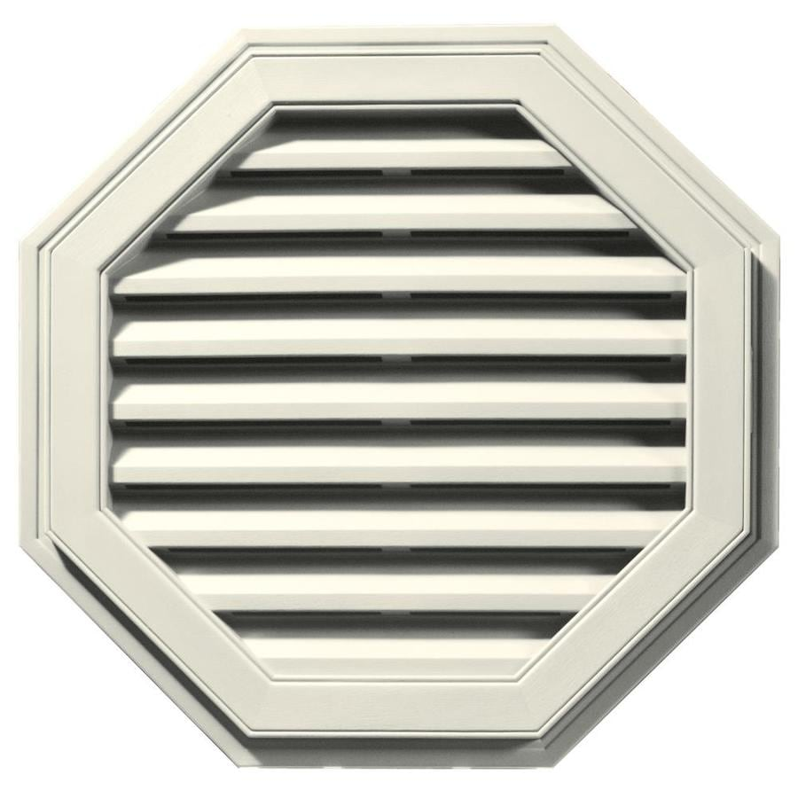 Builders Edge 27-in x 27-in Parchment Octagon Vinyl Gable Vent