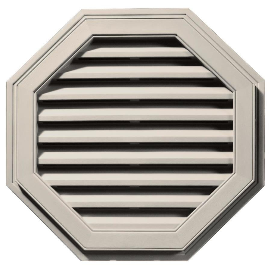 Builders Edge 27-in x 27-in Almond Octagon Vinyl Gable Vent