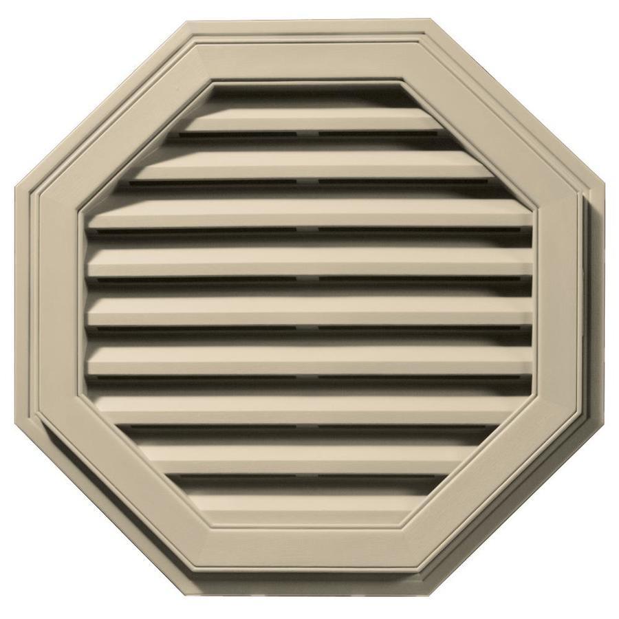 Builders Edge 27-in x 27-in Almond Octagon Vinyl Gable Vent