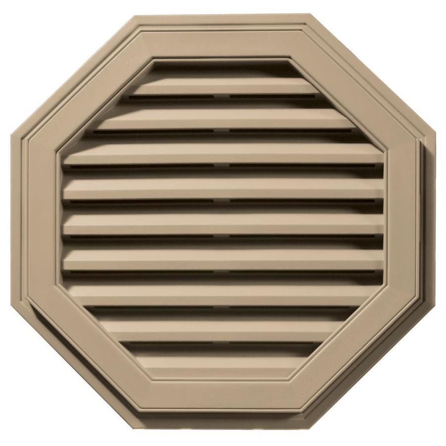 Builders Edge 9-in x 9-in Tan Octagon Vinyl Gable Vent