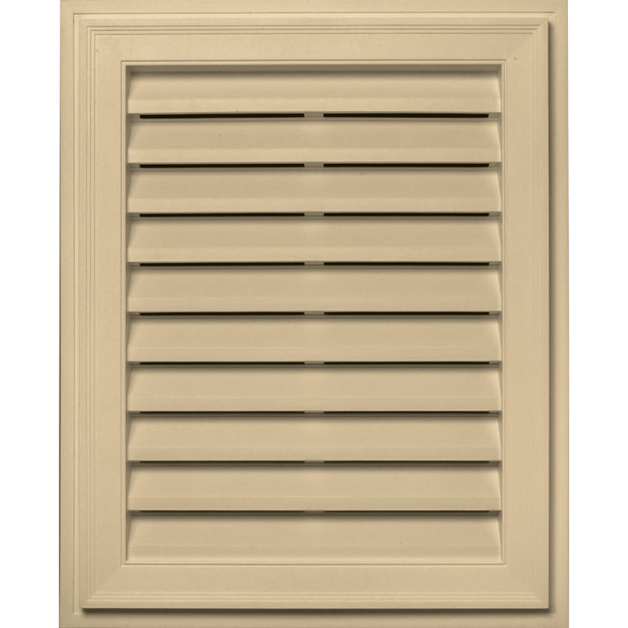 Builders Edge 20-in x 30-in Dark Almond Rectangle Vinyl Gable Vent