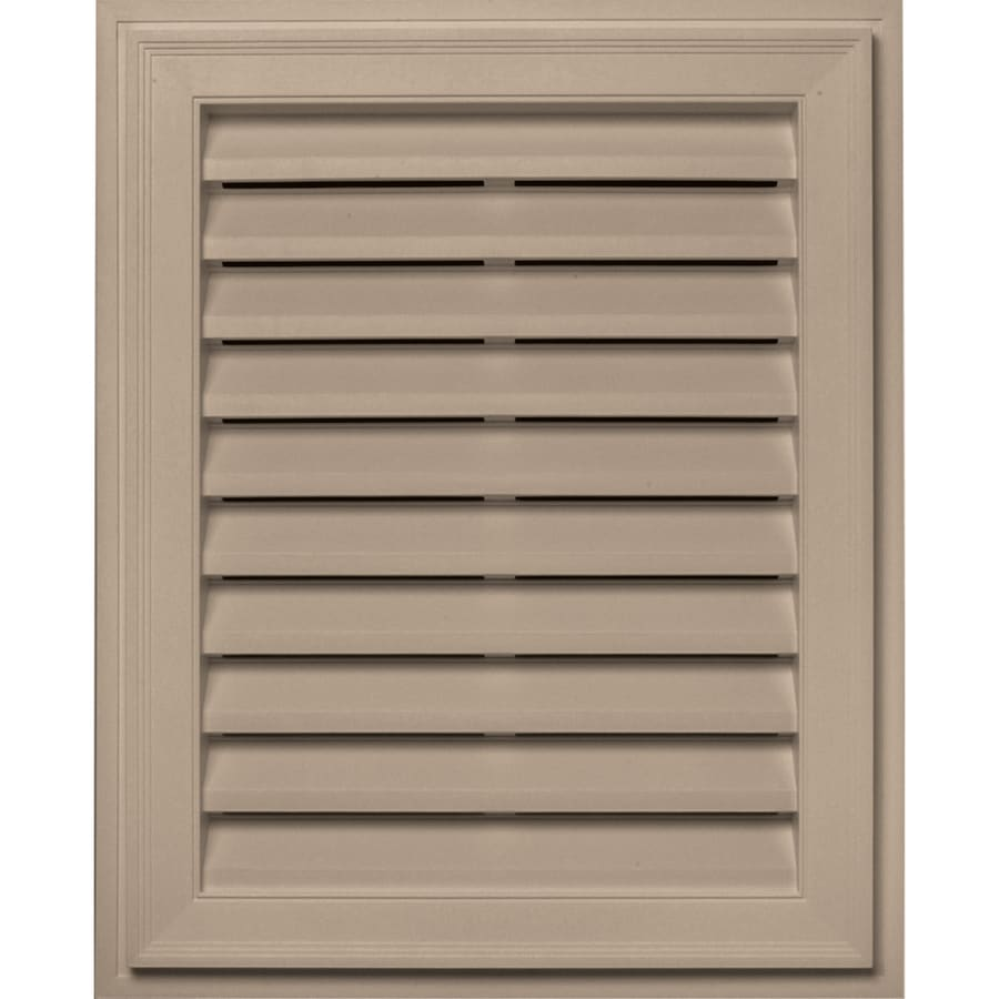 Builders Edge 20-in x 30-in Wicker Rectangle Vinyl Gable Vent