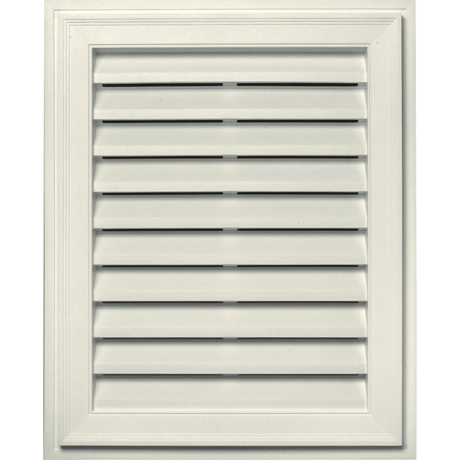 Builders Edge 16-in x 24-in Parchment Rectangle Vinyl Gable Vent