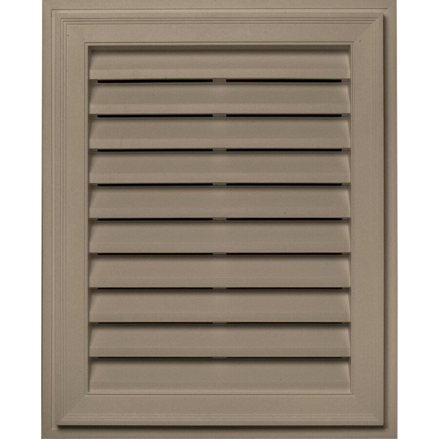 Builders Edge 16-in x 24-in Clay Rectangle Vinyl Gable Vent