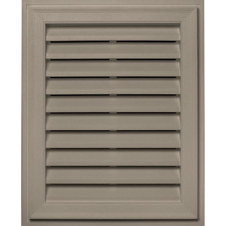 Builders Edge 20-in x 30-in Clay Rectangle Vinyl Gable Vent