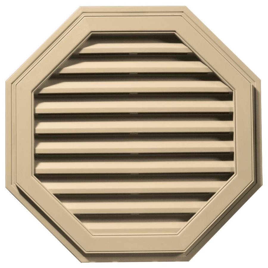 Builders Edge 32-in x 32-in Dark Almond Octagon Vinyl Gable Vent