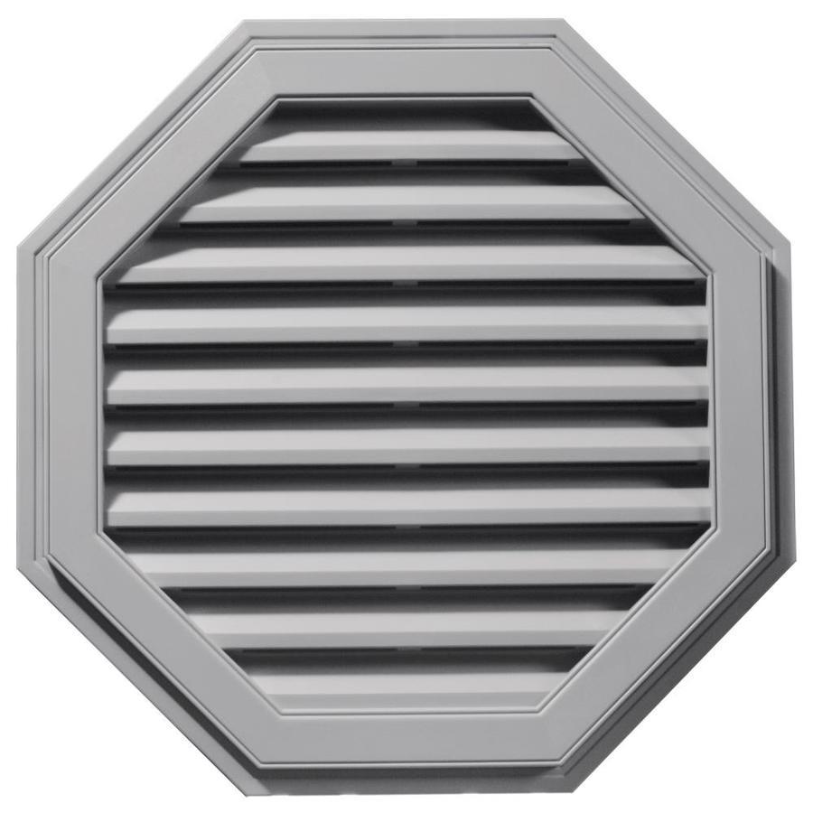 Builders Edge 32-in x 32-in Gray Octagon Vinyl Gable Vent