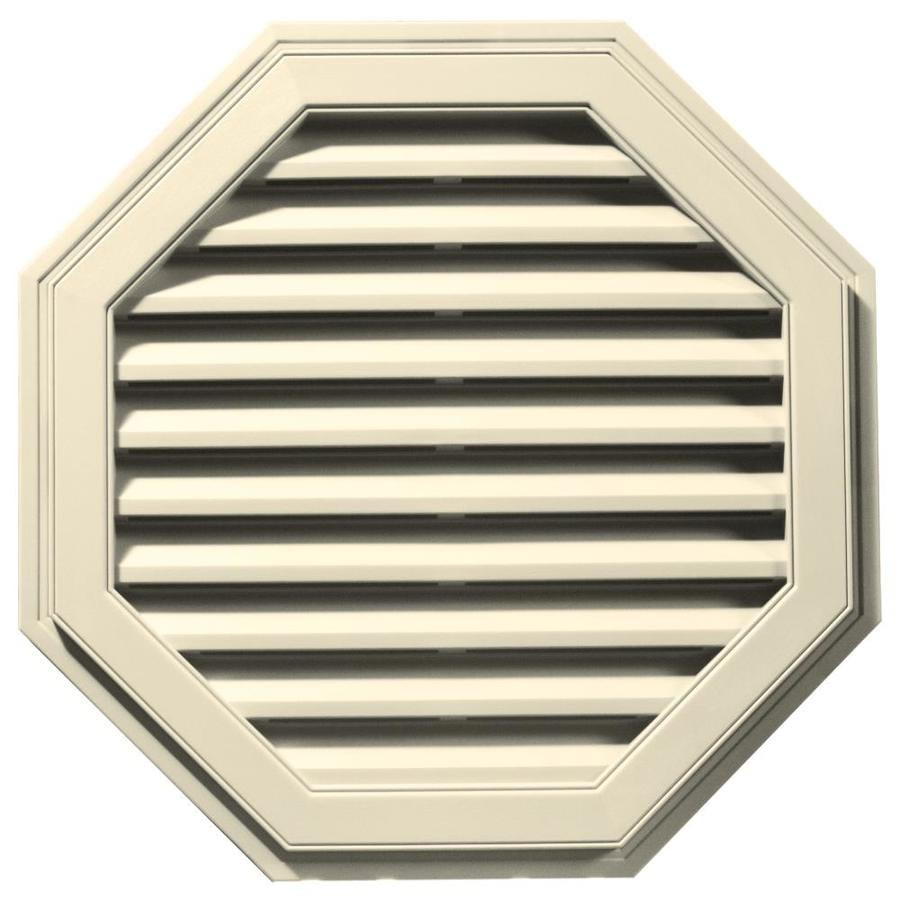 Builders Edge 11-in x 10-in Heritage Cream Octagon Vinyl Gable Vent