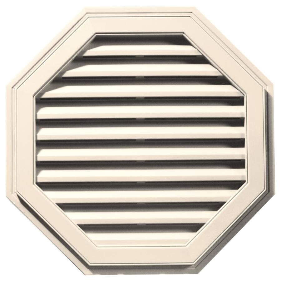 Builders Edge 32-in x 32-in Sandstone Beige Octagon Vinyl Gable Vent