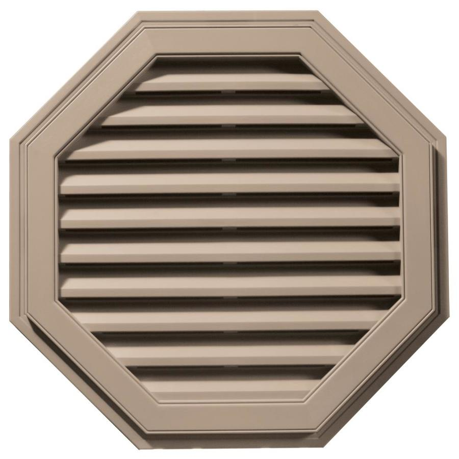 Builders Edge 32-in x 32-in Wicker Octagon Vinyl Gable Vent
