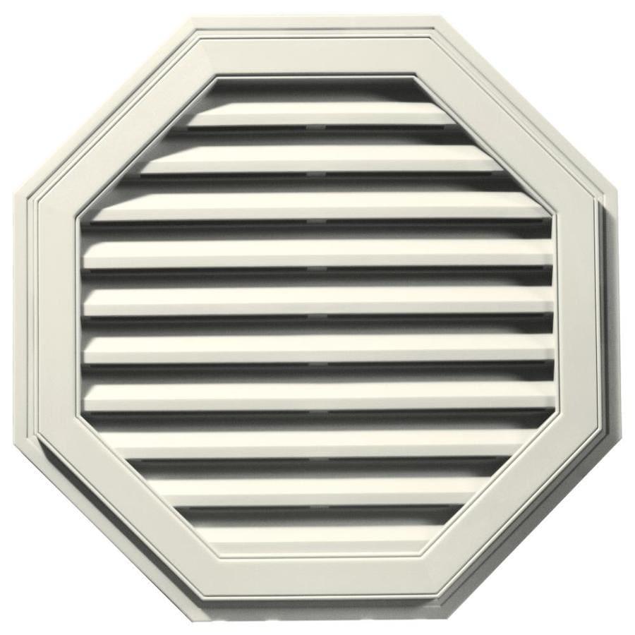 Builders Edge 11-in x 10-in Parchment Octagon Vinyl Gable Vent