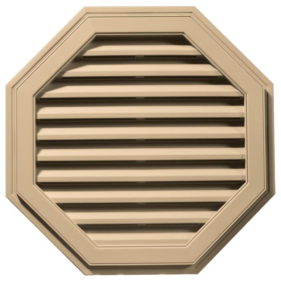 Builders Edge 11-in x 10-in Sandstone Maple Octagon Vinyl Gable Vent