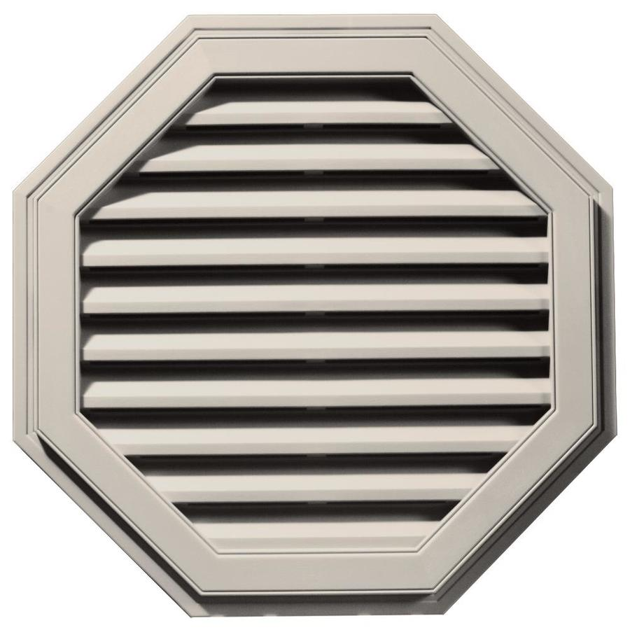 Builders Edge 11-in x 10-in Almond Octagon Vinyl Gable Vent