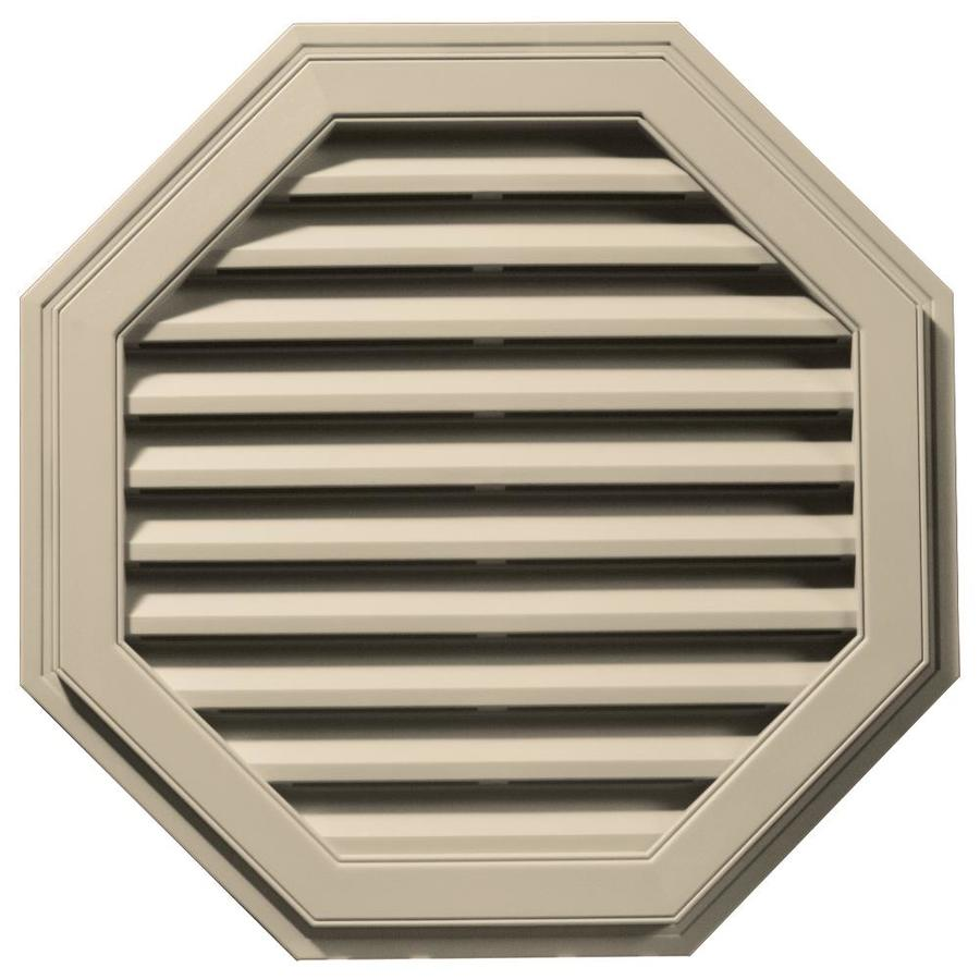 Builders Edge 32-in x 32-in Almond Octagon Vinyl Gable Vent