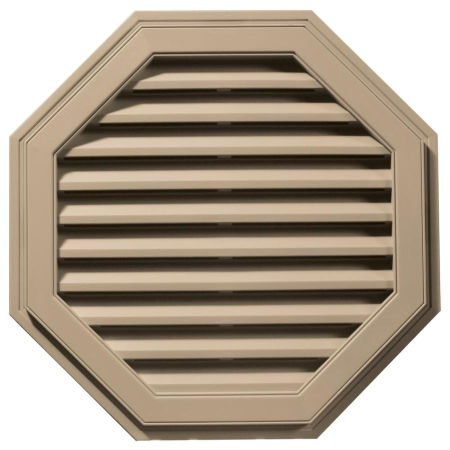 Builders Edge 32-in x 32-in Tan Octagon Vinyl Gable Vent