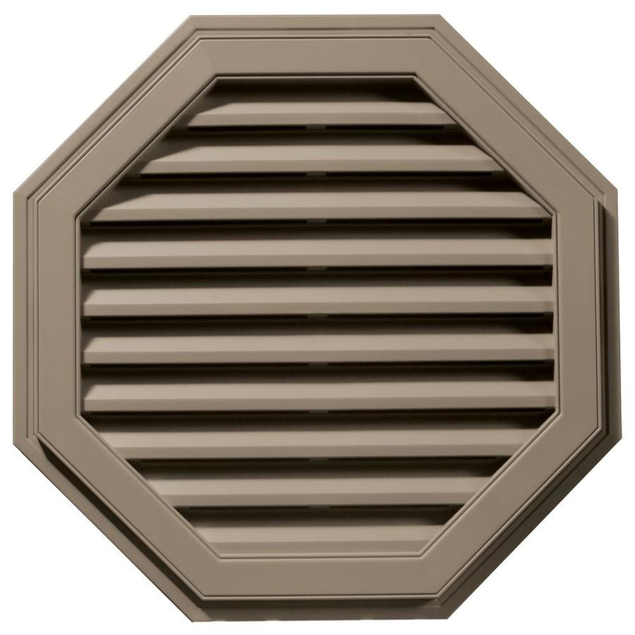 Builders Edge 11-in x 10-in Clay Octagon Vinyl Gable Vent