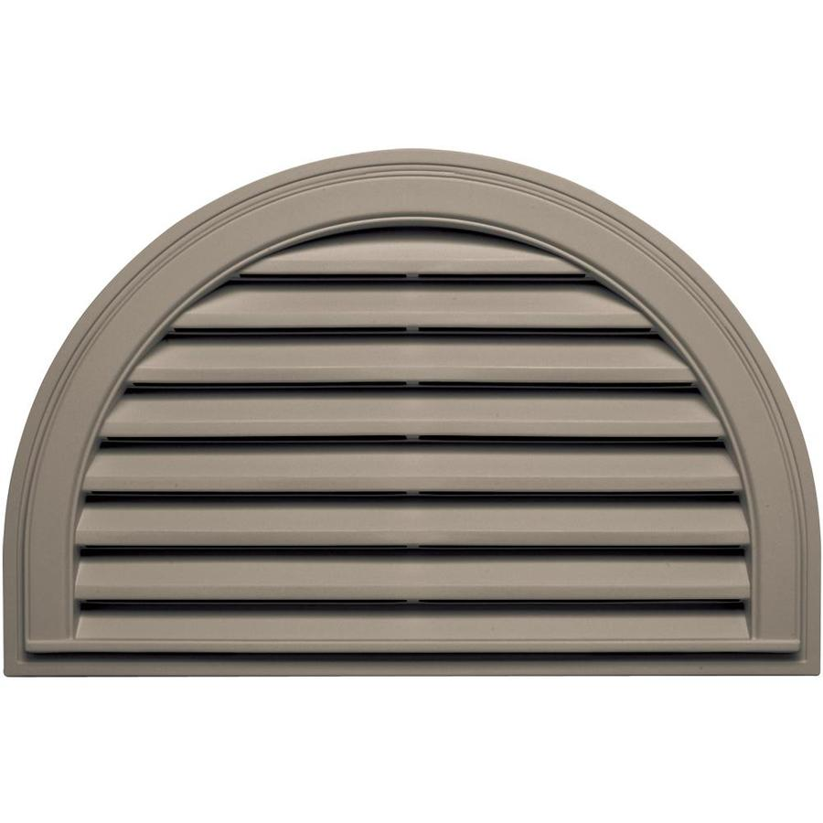 Builders Edge 34-in x 22-in Clay Half Round Vinyl Gable Vent