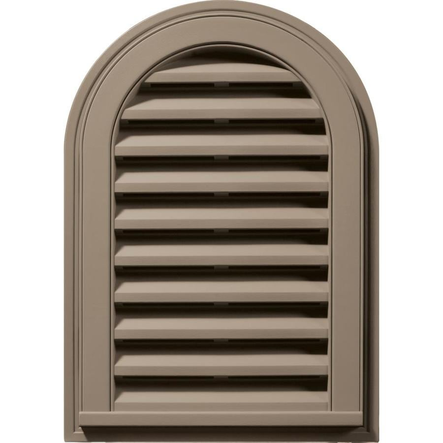 Builders Edge 16-in x 24-in Clay Round Top Vinyl Gable Vent