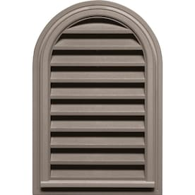 Builders Edge 22 In X 32 In White Round Top Vinyl Gable Vent In The Gable Vents Department At Lowes Com