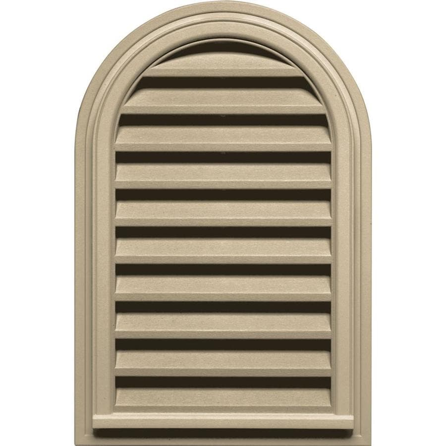 Builders Edge 9-in x 9-in Light Almond Round Top Vinyl Gable Vent
