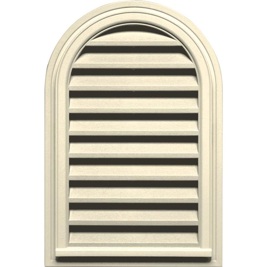 Builders Edge 22-in x 22-in Heritage Cream Round Top Vinyl Gable Vent