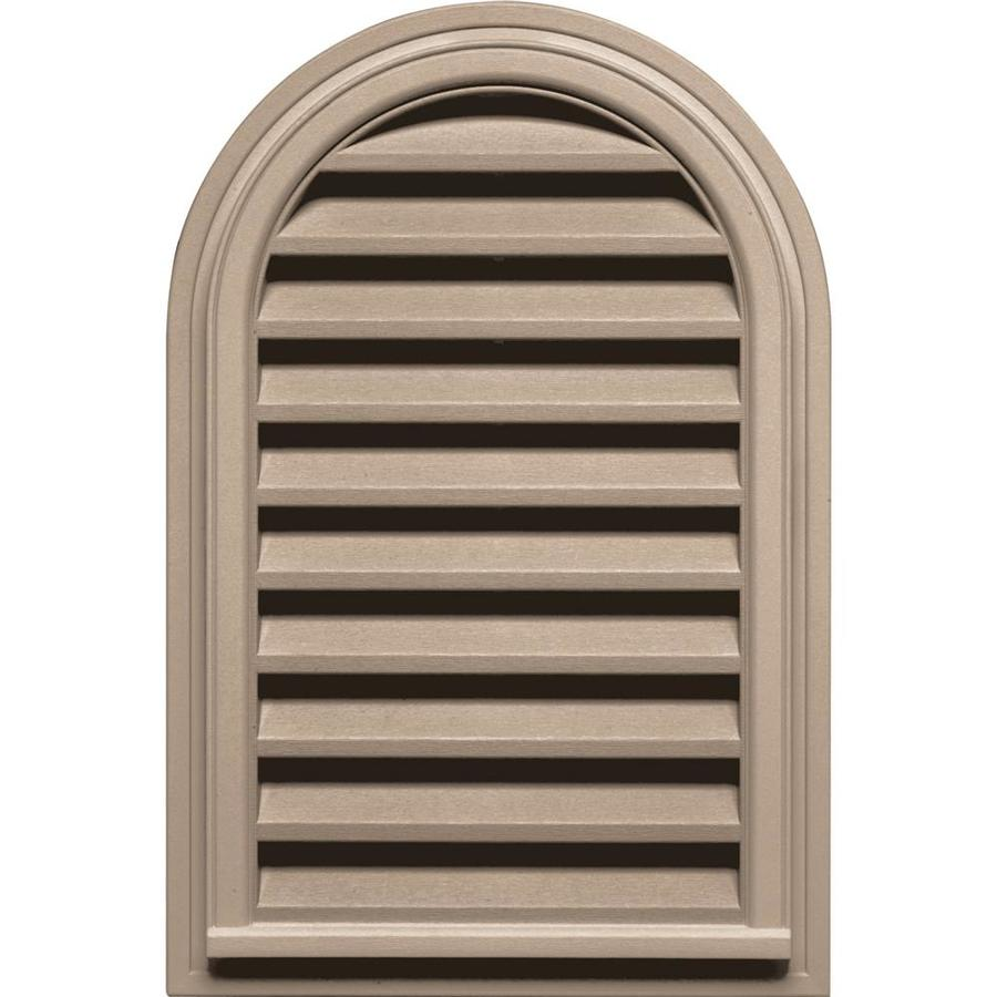 Builders Edge 22-in x 32-in Wicker Round Top Vinyl Gable Vent