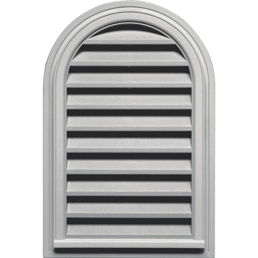 Builders Edge 22-in x 32-in Paintable Round Top Vinyl Gable Vent