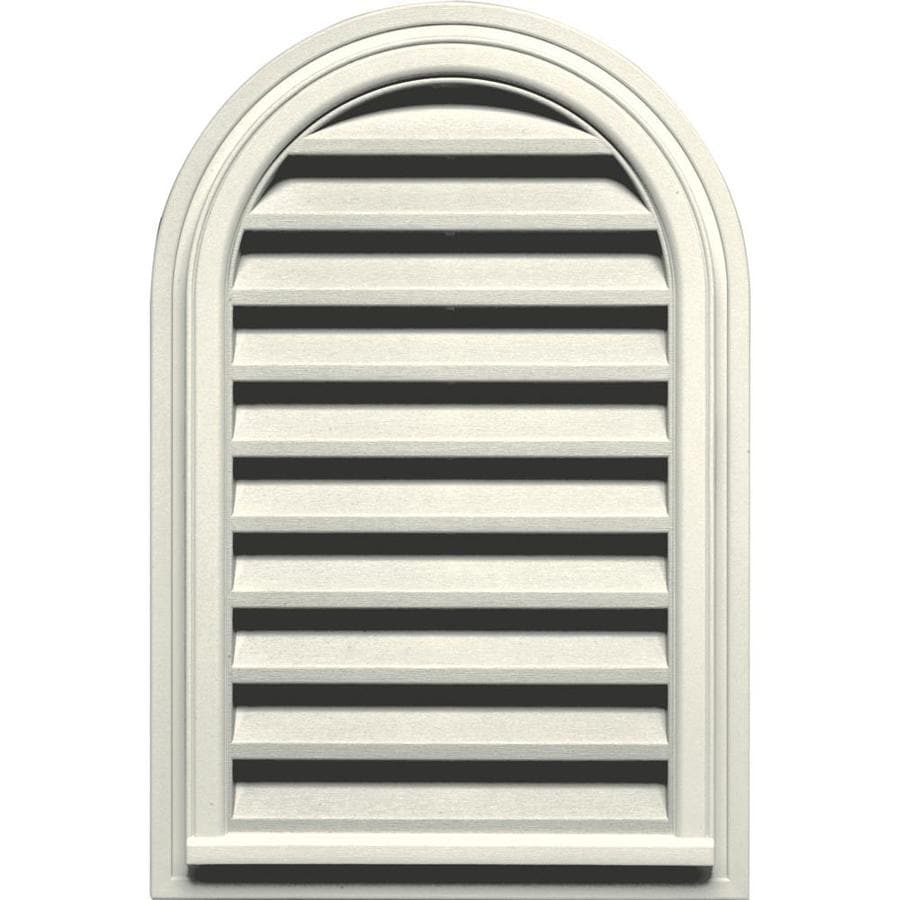 Builders Edge 9-in x 9-in Parchment Round Top Vinyl Gable Vent