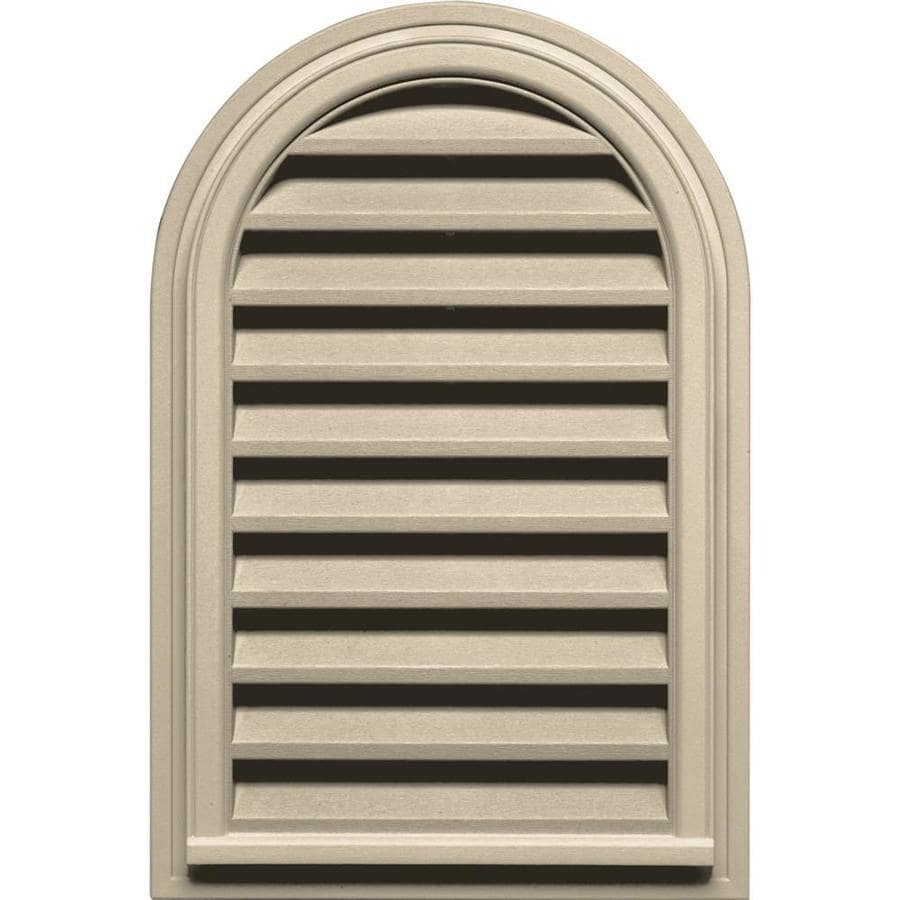 Builders Edge 22-in x 32-in Almond Round Top Vinyl Gable Vent
