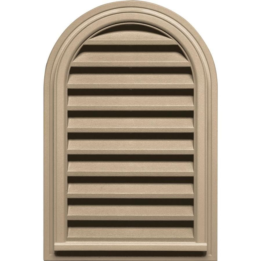Builders Edge 9-in x 9-in Tan Round Top Vinyl Gable Vent