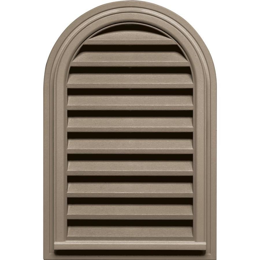 Builders Edge 22-in x 22-in Clay Round Top Vinyl Gable Vent
