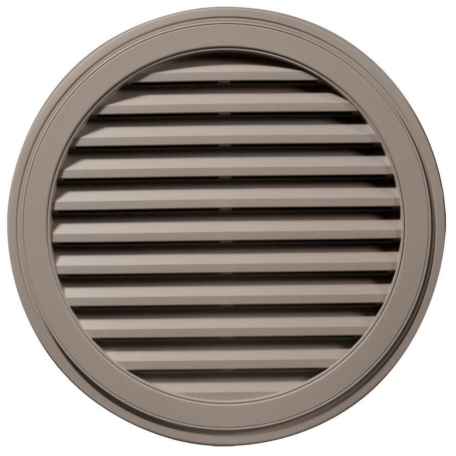 Builders Edge 12-in x 12-in Clay Round Vinyl Gable Vent