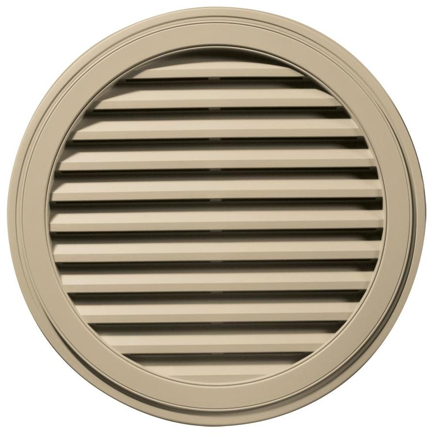 Builders Edge 36-in x 36-in Light Almond Round Vinyl Gable Vent