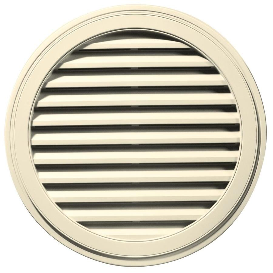 Builders Edge 36-in x 36-in Heritage Cream Round Vinyl Gable Vent