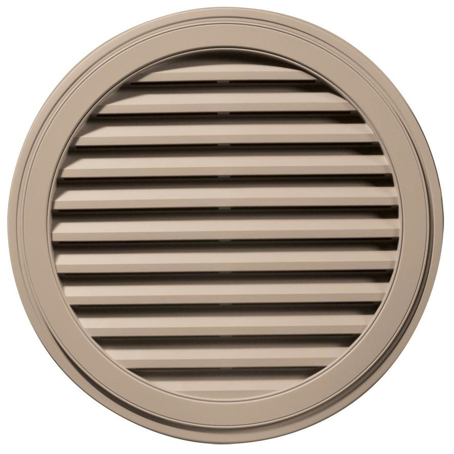 Builders Edge 12-in x 12-in Wicker Round Vinyl Gable Vent