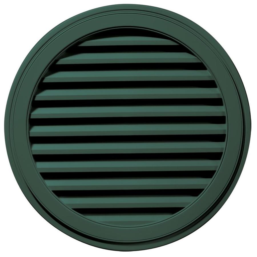 Builders Edge 36-in x 36-in Forest Green Round Vinyl Gable Vent